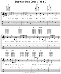 The downloadable piano sheet music is in a pdf file format. Silent Night Chords With Guitar Tab Lyrics Free Pdf