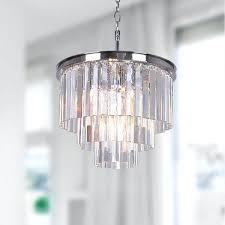 chandelier glass prism 5 light chrome 3 tier chandelier with crystal glass prisms mercury glass chandelier prisms