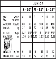 Hockey Glove Sizing Chart Bauer Images Gloves And