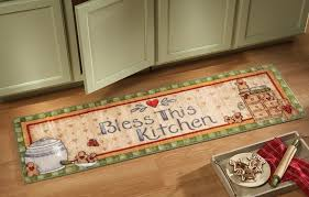 festive vintage gingerbread kitchen runner with non skid rubber backing com