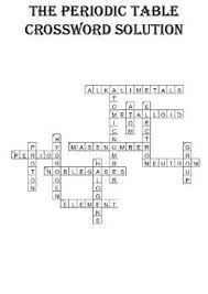Chemistry Crossword Puzzle The Periodic Table Includes