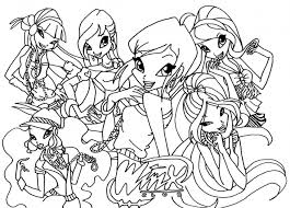 Small Picture Winx Club Coloring Page Printable Coloring Pages for Girls