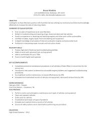 Generator Maintenance Technician Resume New Resume For Service