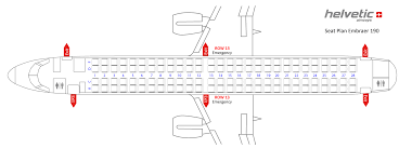 Embraer E90 Seating Chart Embraer 175 Seating Chart United Embraer 190 Seating Chart