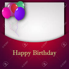 Templates For Birthday Cards Template For Happy Birthday Greeting Card With Place For Text