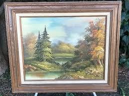 WENDY REEVES ORIGINAL VINTAGE MID CENTURY MODERN LANDSCAPE Signed Oil on  Canvas - $1,000.00   PicClick