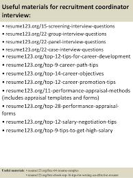Recruiting Coordinator Resume Sample