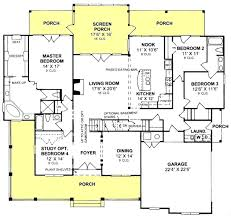 3 bedroom farmhouse plans 3 bedroom 3 bath country farmhouse with open floor plan and screened