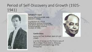 and philippine literature in english 27 period of self discovery