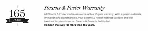 stearns and foster logo. there\u0027s a secret ingredient added when crafting every stearns \u0026 foster® mattress: time. everything from the stitching to embroidery, tufting, and foster logo e