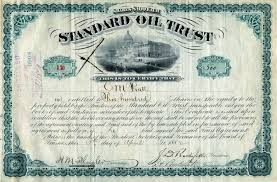 Standard Oil Trust History And Stock Certificates Signed
