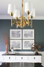 glamorous brass dining room chandelier
