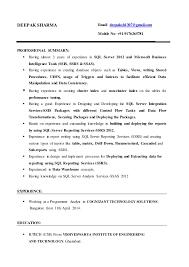 MSBI Developer(Deepak Sharma Resume). DEEPAK SHARMA Email:  deepaksh1307@gmail.com Mobile No: +91-9176265781 ...