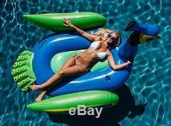 pool water with float. Peacock Inflatable Raft Blue Swimming Pool Water Tube Float Party Island Lake With