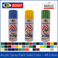 Bosny Spray Paint Color Chart Philippines Bosny Acrylic Spray Paint 48 Colors 190 Clear 191 Clear Flat 4 Flat Black 39 Black