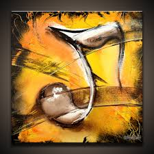 Music abstract painting of a music note,