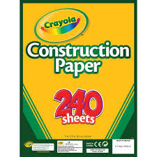 Crayola Construction Paper Pad 9 X12 240 Sheets Pkg