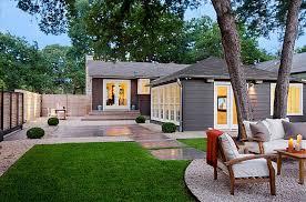 Mid Century Modern Front Yard Landscaping Landscape Design Ideas House  Colors Exterior