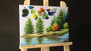 how to paint pine trees in acrylics making your own paint brushes