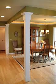 Outstanding Vintage Dining Room Decors With Square Interior Columns With  Grey Wall Painted Interior Designs