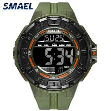 <b>Military Big Dial Sports</b> Men's Watches Army LED digital S shock ...