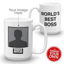the office star mug. the office worlds best boss 15 oz mug star