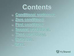Презентация на тему Курсовая работа учителя английского языка  2 contentscontents conditional sentences