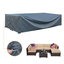 Amazon com patio furniture covers waterproof outdoor furniture set covers sectional large loveseat covers waterproof heavy duty 126 inches garden