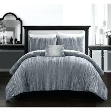 crushed velvet bedding chic home 4 piece comforter set crinkle crushed velvet bedding silver grey crushed crushed velvet bedding