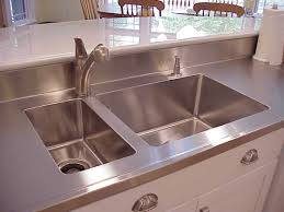 stainless steel countertop with integrated sink. Stainless Steel Island Countertop With Double Kitchen Sink Bowls BuiltIn By SpecialtyStainlesscom Inside Integrated