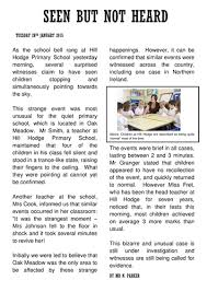 Alien Invasion Newspaper Report Writing Template Pinterest