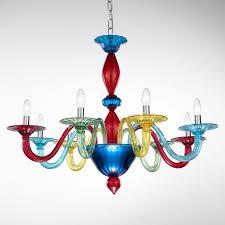 iride murano glass chandelier 8 lights multicolor