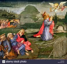 christ in the garden of gethsemane. Jesus Christ In The Garden Of Gethsemane Being Ministered By An