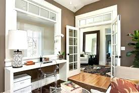 doors for office. Office French Doors Inspiration For A Transitional Medium Tone Wood Floor  Home Remodel In With .