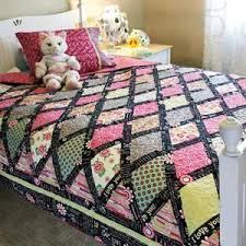 P.S. I Love You - Colorful Diamonds Bed Size Quilt Pattern for ... & P.S. I Love You + FREE Pillowcase Pattern Adamdwight.com