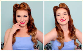 easy 50s hairstyles 196525 1940 s 50 s pinup hair and makeup