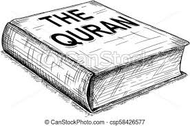 vector artistic drawing ilration of the quran or koran book