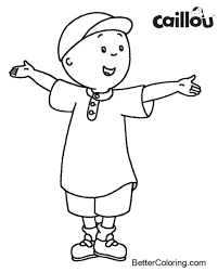 Caillou Coloring Page Easy For Kids Free Printable Coloring Pages