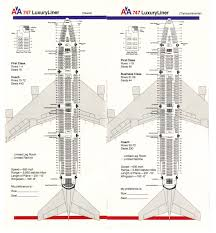 707 Seating Chart American Airline 747 Seating Chart Www Bedowntowndaytona Com