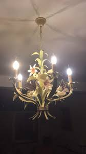 beautiful french fl chandelier 1960
