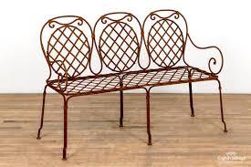 wrought iron lattice 3 seater garden bench