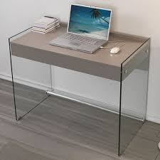 mydesk writing desk with dove grey laminate top