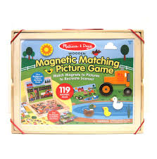 melissa doug wooden magnetic matching picture game