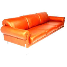 orange leather sectional burnt sofa furniture couch orange leather sectional