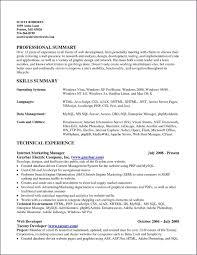 Summary In Resume Examples New Summary Resume Examples Summary Of Qualifications Examples 22