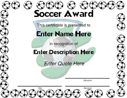 soccer awards templates soccer coach award certificate template