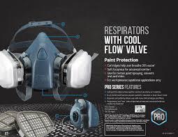 3m pro half face paint respirator m ca tools home improvement