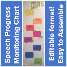 Speech Therapy Progress Chart Speech Therapy Progress Monitoring Visual Progress Chart