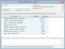 recipe ysis software