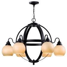 magellen 6 light rust globe chandelier